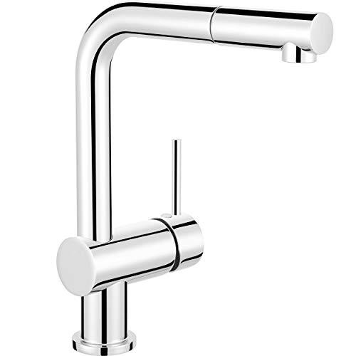 baliv Küchenarmatur KI-1050 Verchromt | Wasserhahn mit herausziehbarer Handbrause