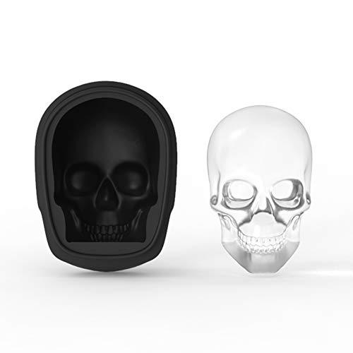 Qianren 3D Skelett Eisform Tablett Silikon Eisform für alkoholfreie Getränke Whisky, Schädel Eiswürfel Form Tablett für Themenparty Halloween
