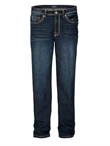 BABISTA Herren Straight Fit Lange Jeans in Blau aus Baumwolle mit dicken Nähten