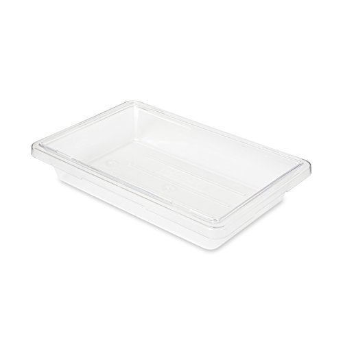 Rubbermaid Commercial Products Food Storage Box/Tote for Restaurant/Kitchen/Cafeteria, 2 Gallon, Clear (FG330700CLR)