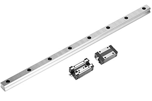 Linear Bearing Guide Rail, 1 Pcs HGR25 Square Linear Guide Rail 500mm with 2 Pcs HGH25CA Slider Block Carriage CNC Parts