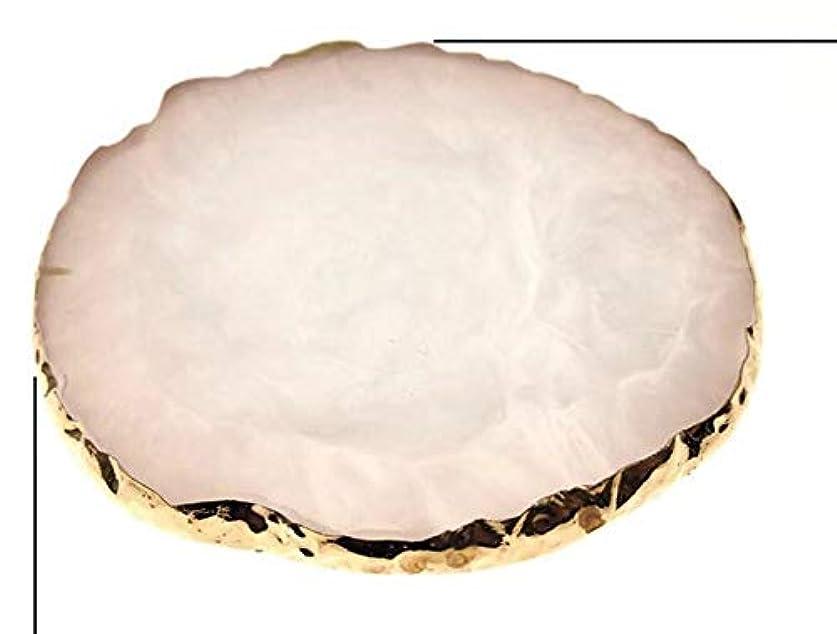 感嘆符オーストラリア人些細Glitter Powderジェルネイル ホワイト ネイル ジェルネイル パレット プレート ディスプレイ 天然石風 展示用 アゲートプレート デコ アクセサリー ジェルネイル (ホワイト)