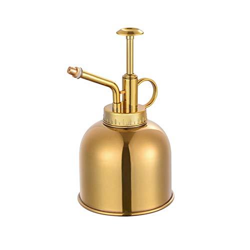 Elibeauty Latón Regadera Vintage Estilo Premium Clásico Interior Botella Rociadora Decorativa de Metal Planta Mister para Flores y Suculentas (Oro)