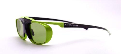 Hi-SHOCK Lime Heaven DLP Link 3D Brille für 3D DLP Beamer von Acer, BenQ, LG, Optoma, Viewsonic, Vivitec, Infocus, Casio   96-200Hz wiederaufladbar
