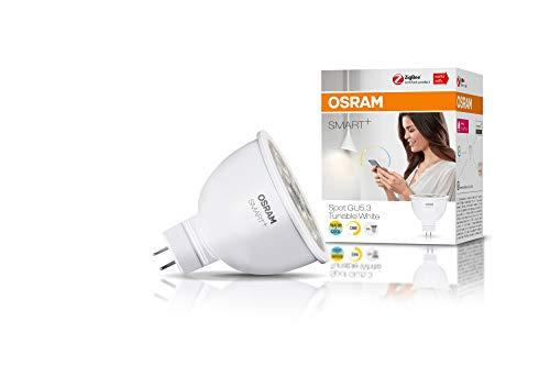 OSRAM Smart+ LED, ZigBee GU5.3 Reflektor, 12V, warmweiß bis tageslicht (2700K - 6500K), dimmbar, Direkt kompatibel mit Echo Plus und Echo Show (2. Gen.), Kompatibel mit Philips Hue Bridge, 4er Pack
