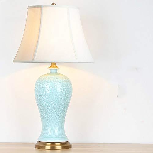 Lámparas de Mesa y mesilla de Noche Decoración de la Sala de Estar Estudio Lámpara de Mesa de cerámica Decoración del hogar Luz (Color : Plum Bottle)