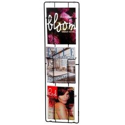 PUHLMANN Capventure, Cabanaz - Zeitschriften-Wandhalter, 3 Faecher, Maße: H 98cm x B 28cm x T 7cm, Schwarz, Stahl (1002672)