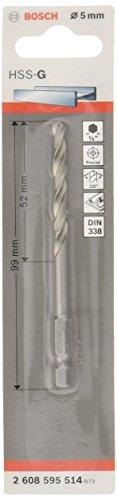 "Preisvergleich Produktbild Bosch Professional Metallbohrer HSS-G geschliffen mit 1 / 4""-Sechskantschaft (Ø 5 mm)"