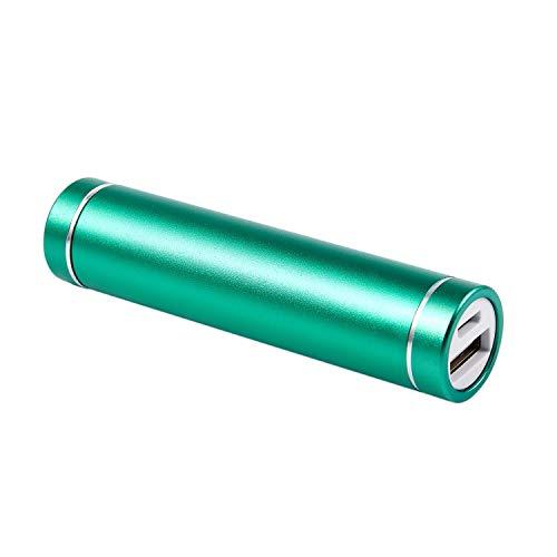 Jaimenalin 2600mah Cargador De BateríA De La Caja del Banco De La AlimentacióN por USB PortáTil para El TeléFono MóVil(Sin Bateria) Verde