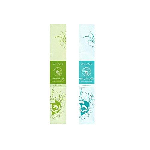 Batônnets d'encens Indiens 2ème Set Spa - Soul of India Fair Trade: Energie Nouvelle et Atmosphere Pure, Chaque Paquet Contient 10 Bâtonnets