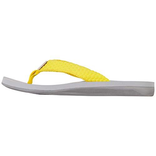 Kappa Herren Pahoa Slipper, Gelb Yellow L Grey 4014, 36 EU