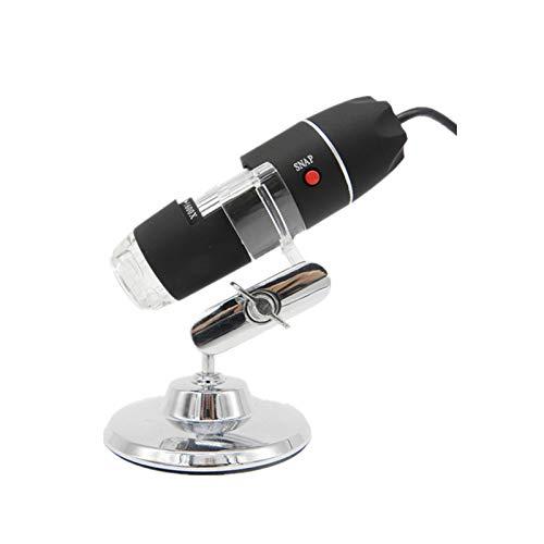 HJYDZ Kit De Microscopio para Niños, Microscopio Monocular Compuesto Biológico Portátil LED De Luz Óptica Lente De Vidrio Juguetes De Ciencia para Niños, Microscopio para Movil (Color : A)