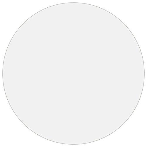 Bulufree Protector de Mesa Redonda de PVC Resistente de 2 mm, Funda Protectora de Muebles Impermeable Resistente a los arañazos, Ø 120 cm, Acabado de Superficie Mate