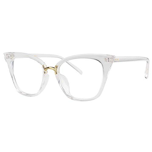 Zeelool Cat Eye Blue Light Blocking Glasses for Women Martha ZOP01899-02 Crystal