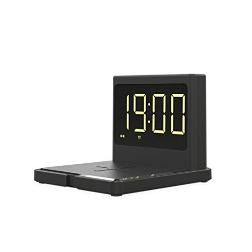 wholesome 3 en 1 15W TELÉFONO MÓVIL INXTERNO Carga INTERNABLE Digital Reloj DE Alarma Digital Cargo RÁPIDO Multifuncional, Cuatro Tipos de Reloj de Brillo Ajustable