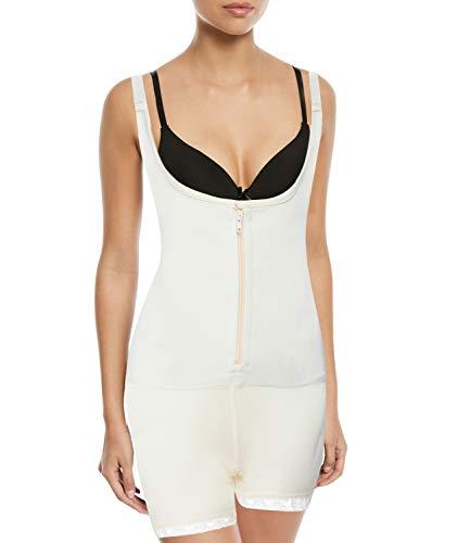 SLIMBELLE Bodies Moldeadores Faja de Mujer Body Reductor Adelgazante Shaper Ajustable Shapewear-Beige-S ⭐
