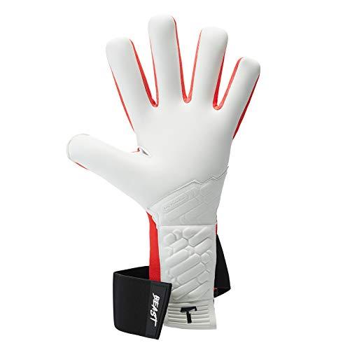 T1TAN Red Beast 2.0 Torwarthandschuhe mit Fingerschutz, Fußballhandschuhe Herren & Erwachsene - 4mm Profi Grip - Gr. 10 - 6