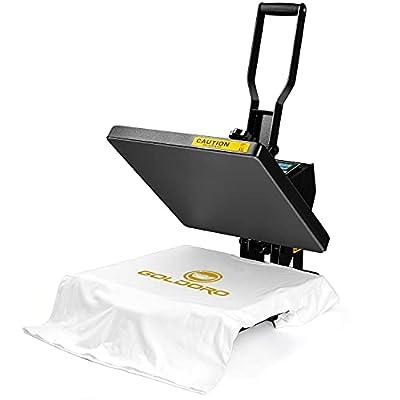 GOLDORO Pro Heat Press Machine 15×15 Inch Clamshell Digital Sublimation Printer for T-Shirt Industrial Flat Heat Transfer Machine