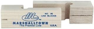 MARSHALLTOWN The Premier Line 86 3-3/4-Inch Wood Line Blocks (Pair)
