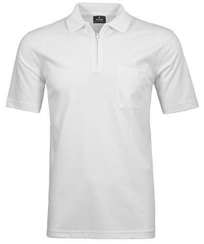 RAGMAN Herren RAGMAN Kurzarm Poloshirt, Weiß, XL