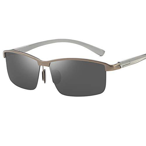 Caja Grande De Moda Gafas De Sol para Hombre Y Mujer Polarizadas Gafas ProteccióN para ConduccióN Gafas De Deportes Al Aire Libre De Pesca De Moda Regalo De San ValentíN (Color : Black Gray)