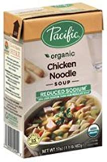 Pacific Organic Soup, Chicken Noodle, Reduced Sodium, 17oz. (Pack of 2)