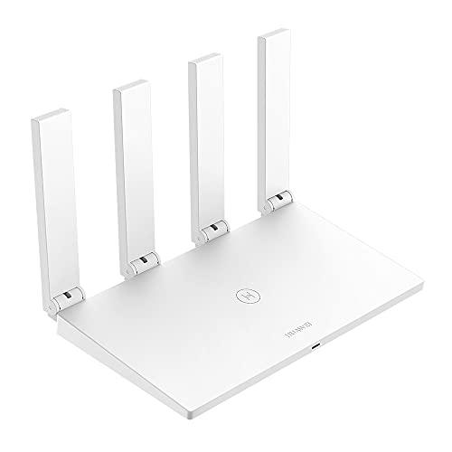 HUAWEI WiFi WS5200 New Dual-Core Router, Geschwindigkeit bis zu 1.267 Mbit/s, Bis zu 32 Dual-Band-Geräte, 1x Gigabit WAN- & 3X Gigabit LAN-Ports, Garantieverlängerung auf 30 Monate, Weiß