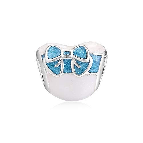 LILANG Pulsera de joyería 925 Pandora Encantos de Amor de día Blanco Natural Cuentas de Metal de Plata esterlina para Hacer ajustes Joyas Originales Regalos de Bricolaje para Mujeres