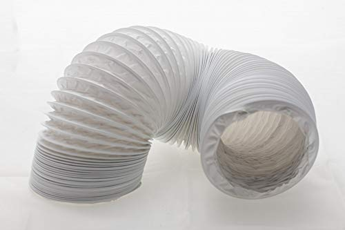 daniplus Tubo de salida de aire de PVC flexible Ø 125/127 mm, 4 m, por ejemplo, para aire acondicionado, secadoras y campanas extractoras