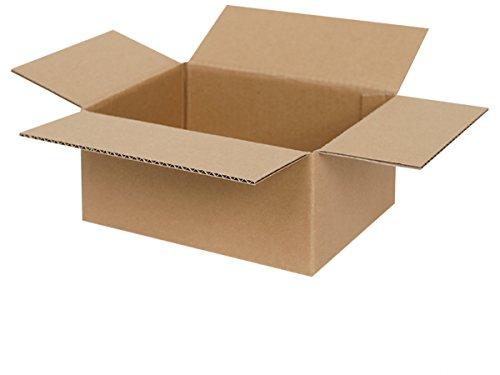 100 Faltkartons 200 x 150 x 90 mm | Versandkarton geeignet für Versand mit DHL, DPD, GLS und Hermes | zwischen 25-1000 Kartons wählbar