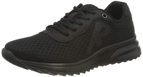 Rieker Damen N6612 Sneaker, schwarz, 39 EU