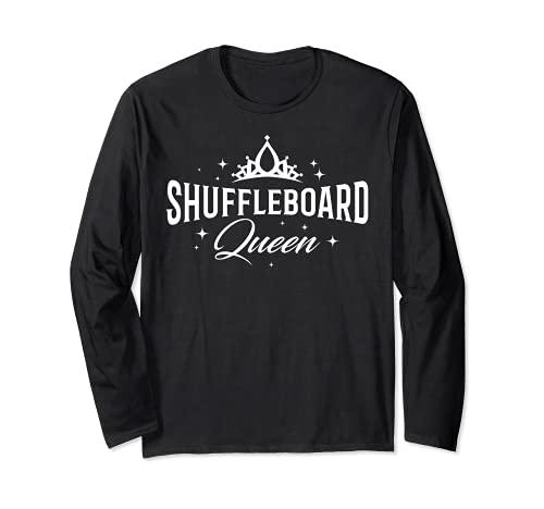 Shuffleboard Queen – Shuffleboarding Equipo de Jugador Regalo Divertido Manga Larga