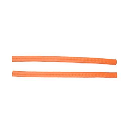 perfk 2 stück Longboard Kantenschutz - Schutz für Skateboard Deck - Orange