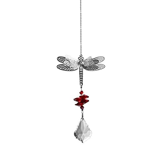 Dragonfly Crystal Suncatcher Prisms Bead Hanging Crystal for Windows Prisms Garden Wedding Christams Decor Rainbow Maker…