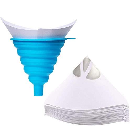 Clkdasjd Filter cone silicone funnel cone funnel for 3D printer parts accessories filament filter,White