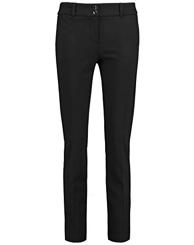 Taifun Damen Stretchhose Skinny Low Schmale Passform, Slim Fit Black 36