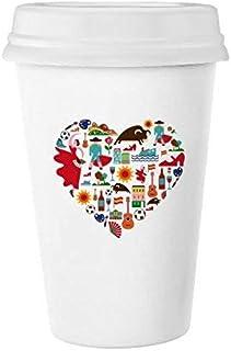España español corazón corrida de toros Flamenco Guitarra Ventilador Nacional Bandera Classic blanco cerámica de cerámica taza de leche taza de café taza 350ml