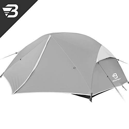 Bessport Camping Tent 2 and 3 Person, Easy & Quick Setup Lightweight Two Doors...