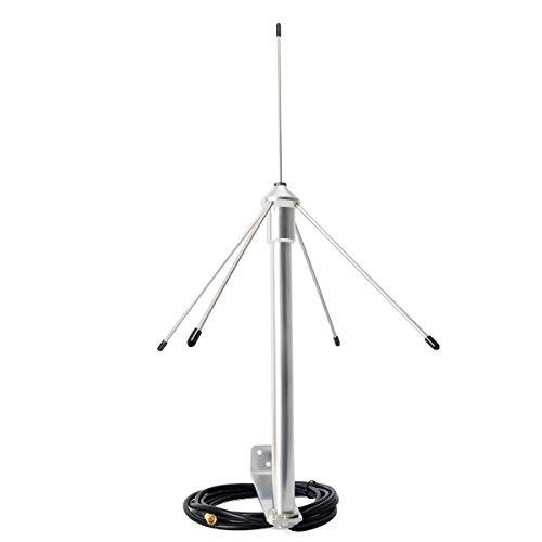 UAYESOK 433MHz 3dbi Antenna Omni GSM GPRS con cavo coassiale 3M (9,8 piedi) RG58 Spina SMA-maschio e staffa di montaggio per ripetitore segnale radioamatore