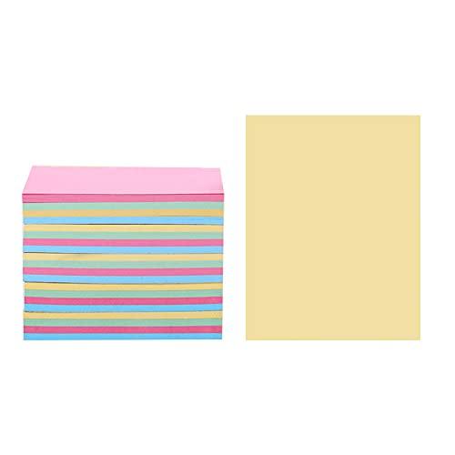 Arti-Cipes ポストイット 付箋 超徳用 ブロックメモ 文房具 便利 メモ用紙 強粘着 メモ帳 かわいい 創造的 ノート オフィス学校 76×76mm 500枚 (4色, 76*50mm (500枚))