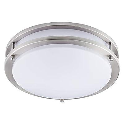 """KINGBRITE LED Flush Mount Ceiling Light 12""""..."""