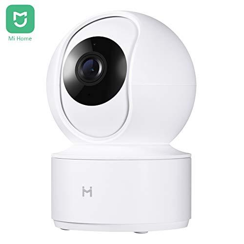 IMI LAB Mi Home 1080P HD Cámara IP Inalámbrica Inteligente Vigilancia Interior Cámara de Seguridad WiFi Pan/Tilt Audio Bidireccional Visión Nocturna Detección de Movimiento Monitor Remoto