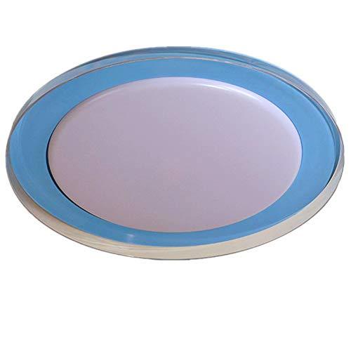 Pantalla de lámpara de techo LED tricolor redondo acrílico transparente con máscara de precisión para el cuarto de baño