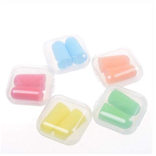 PiniceCore Color al Azar Espuma Suave Tapones para los oídos Protección auditiva (5 Pares)