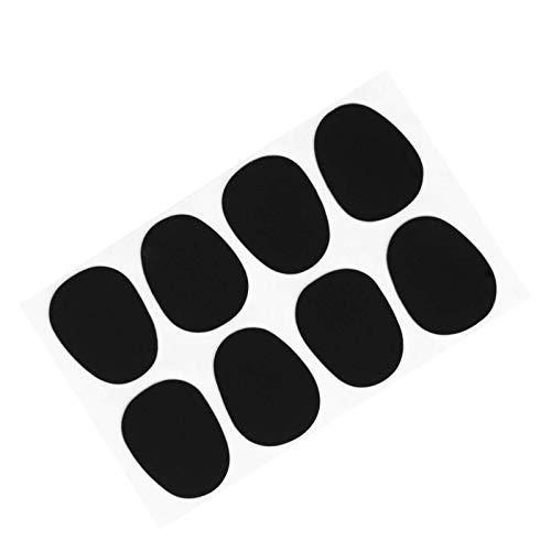 80 Stück 0,8 mm Oval Form Mundstück Patches Pads Kissen, Alto Saxophon Bissplatten, Saxophonständer für Alt-/Tenor-Saxophone Mundstück Patches Pads Kissen, Schwarz