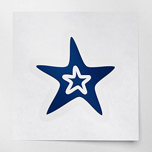 Decal Stickers of Sea Star (Navy Blue) (Set of 2) Premium Waterproof Vinyl Decal Stickers for Laptop Phone Accessory Helmet Car Window Mug Tuber Cup Door Wall Decoration - ANDstice46611AB