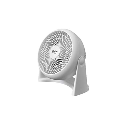 EDM 33953 Ventilador 2 En 1 para Suelo y Pared 50W, Blanco, 18 cm