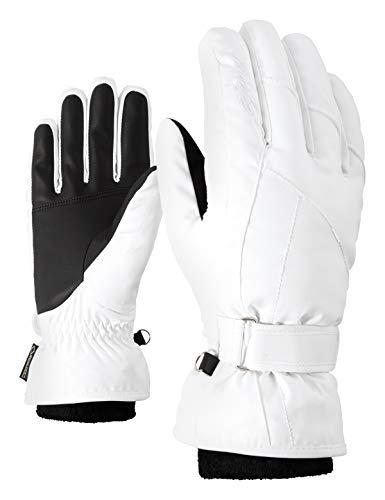 Ziener Damen KARMA GTX Gore plus warm lady glove Ski-handschuhe / Wintersport | wasserdicht, atmungsaktiv, sehr warm, , weiß (white), 7