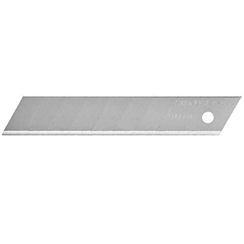 Stanley Abbrechklingen (18 mm, 7 abbrechbare Segmente, gerade Schneide, extra stark, 8 Stück) 0-11-219