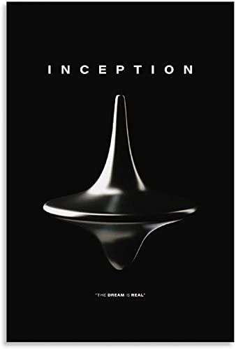 JSYEOP Póster de película clásica de Inception Time Spinning Top Art Poster Art Print Lienzo para pared Personalizado Póster Decoraciones Pintura Regalo 40 x 60 cm